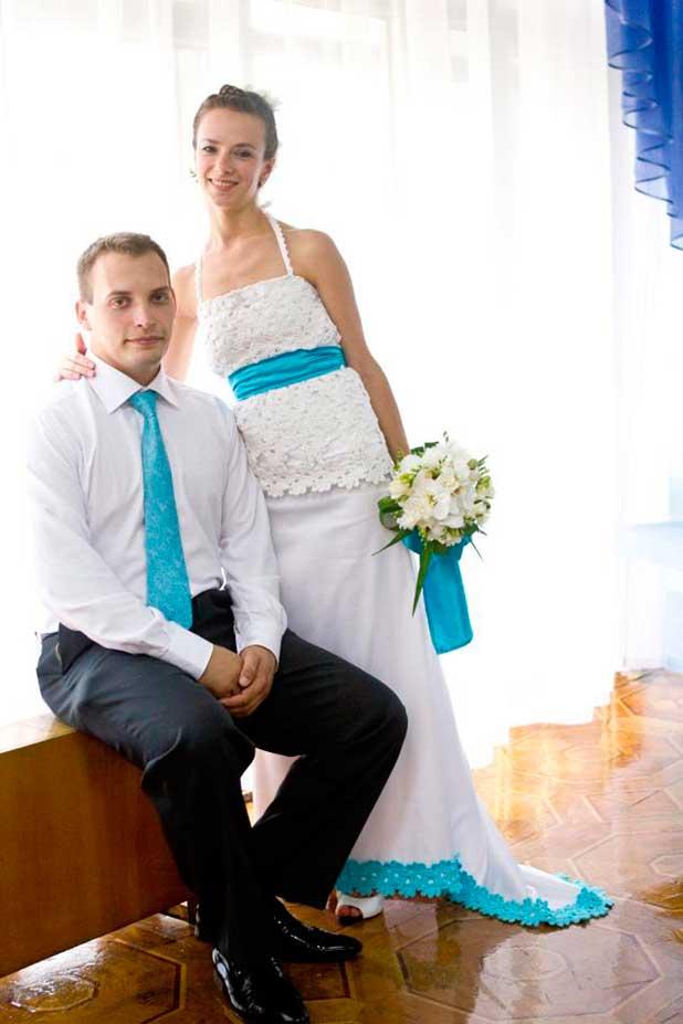 Свадебное платье и костюм сочетание с