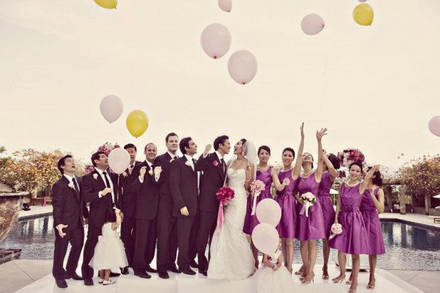 Идея для свадьбы в финале с запуском шаров