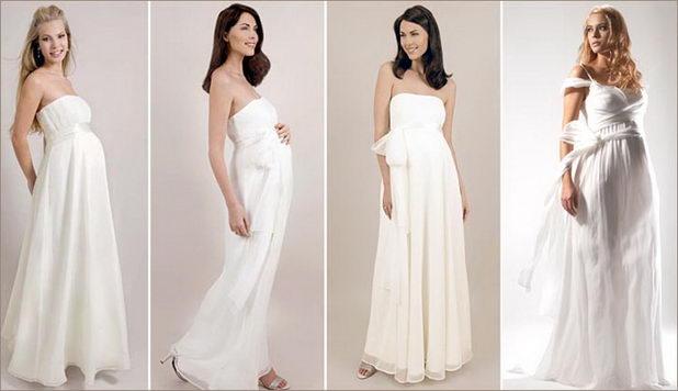 Красивые платья беременным невестам