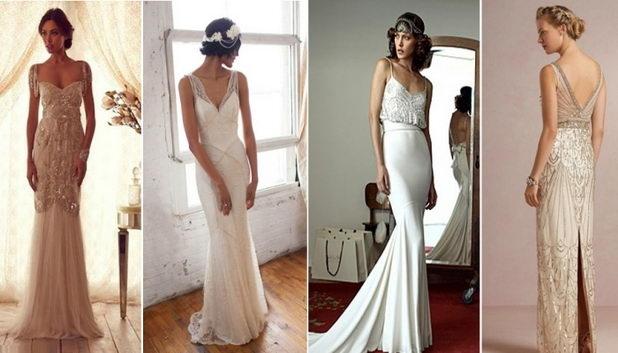 Свадебные платья стиля шебби-шик