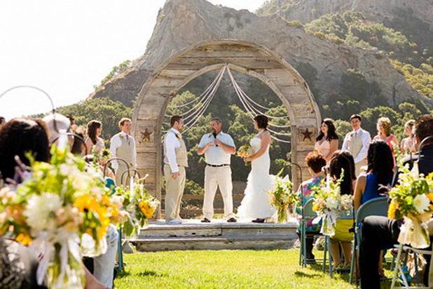 Свадьба на выезде летом