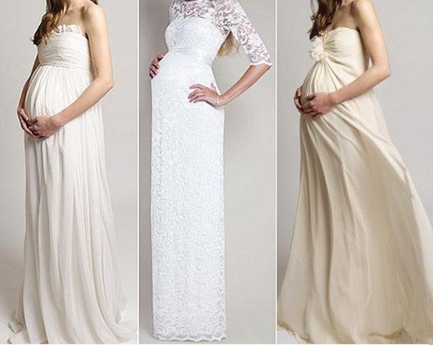 Свадебные платья в силе ампир беременным