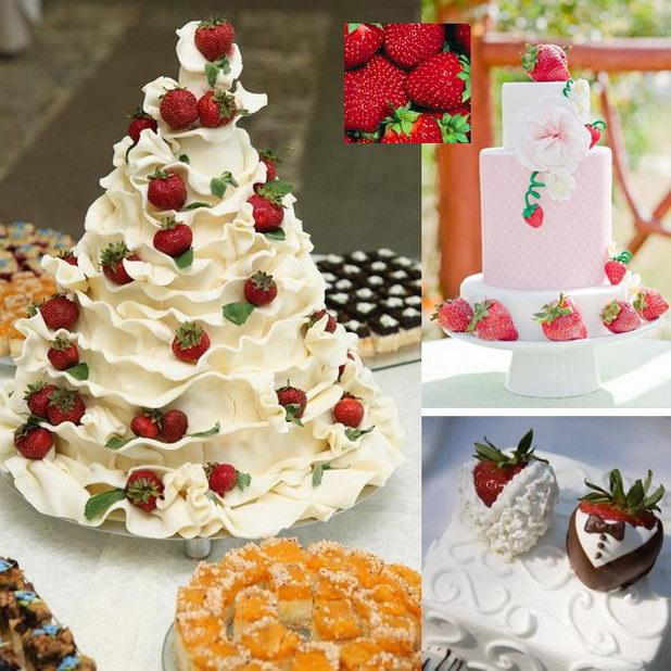 Торт с ягодами и фруктами