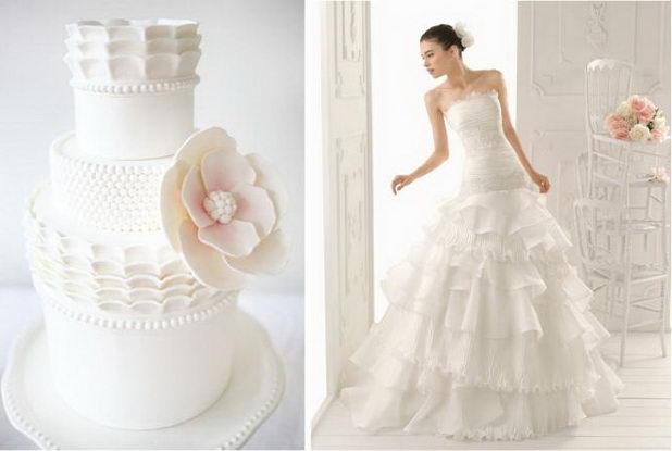 Торт в виже свадебного платья