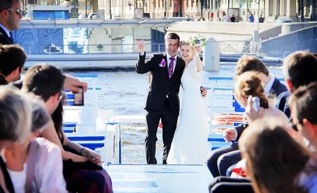 Свадьба в Москве на корабле