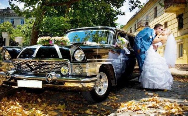 Транспорт на ретро-свадьбу