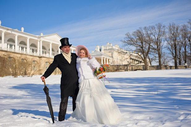 Элегантная свадьба зимой