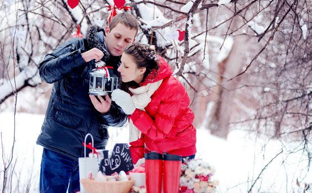 Романтическая свадьба зимой