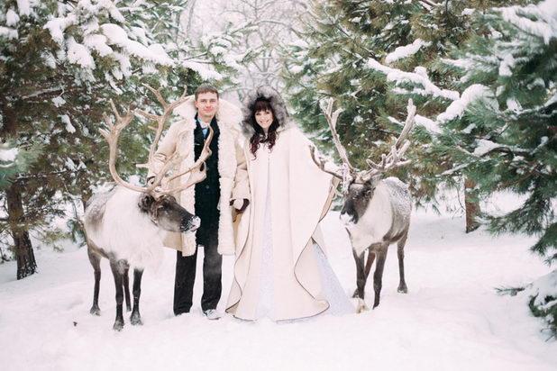 Свадьба зимой в лесу
