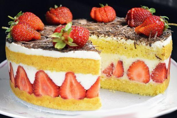 Виж торта fraisier на свадьбу