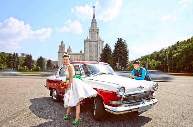 Авто для свадьбы стиляг