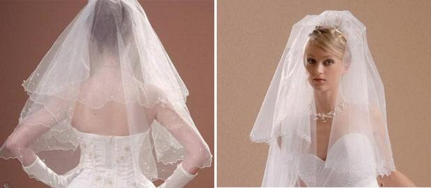 Фата для невесты, сшитая своими руками
