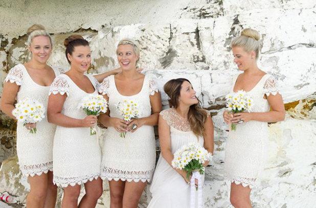 Наряд на ромашковой свадьбе