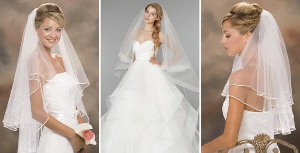 Пышная фата для невесты