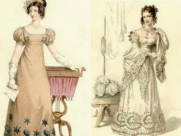 Платье ампир в 19 веке