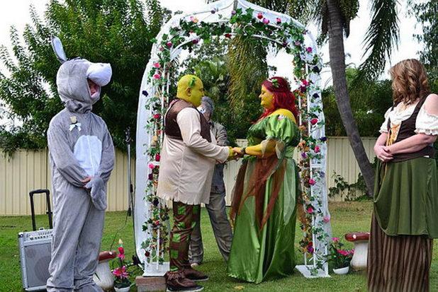Свадьба в стиле «Шрека»