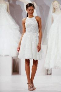 Элегантное укороченное платье на свадьбу