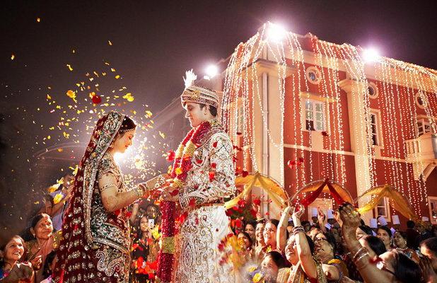 Гости на индийской свадьбе