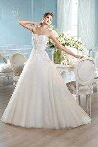 Свадебное платье с декольте сердечко