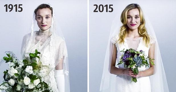 Свадебное платье сегодня и 100 лет назад
