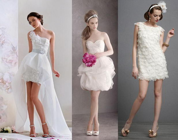 Короткое свадебное платье создаст элегантный и притягательный образ