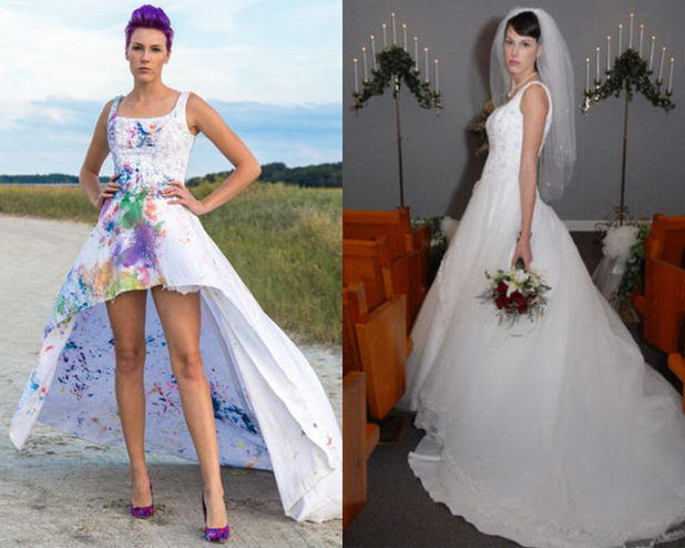 Что лучше сделать со свадебным платьем? Перешить!