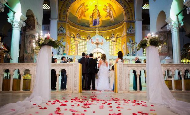 Свадьба в православной церкви на Крите