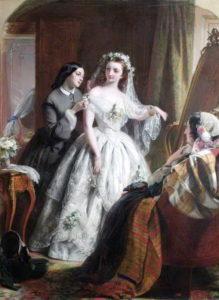 Свадебное платье 19 век