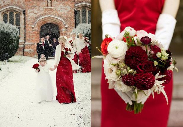Свадьба в красно-белых тонах