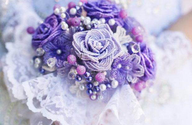 Свадебный букет из бисера - удивительное украшение
