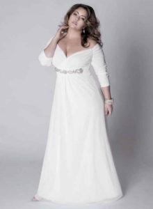 Платье для полных на свадьбу