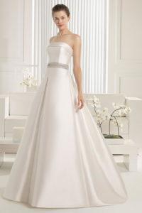 Модное свадебное платье А силуэт