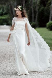 Свадебные платья с кейпом и накидкой