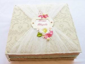 Свадебный фотоальбом с надписью